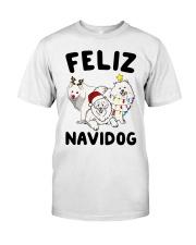 Feliz Navidog Samoyed Christmas Classic T-Shirt thumbnail