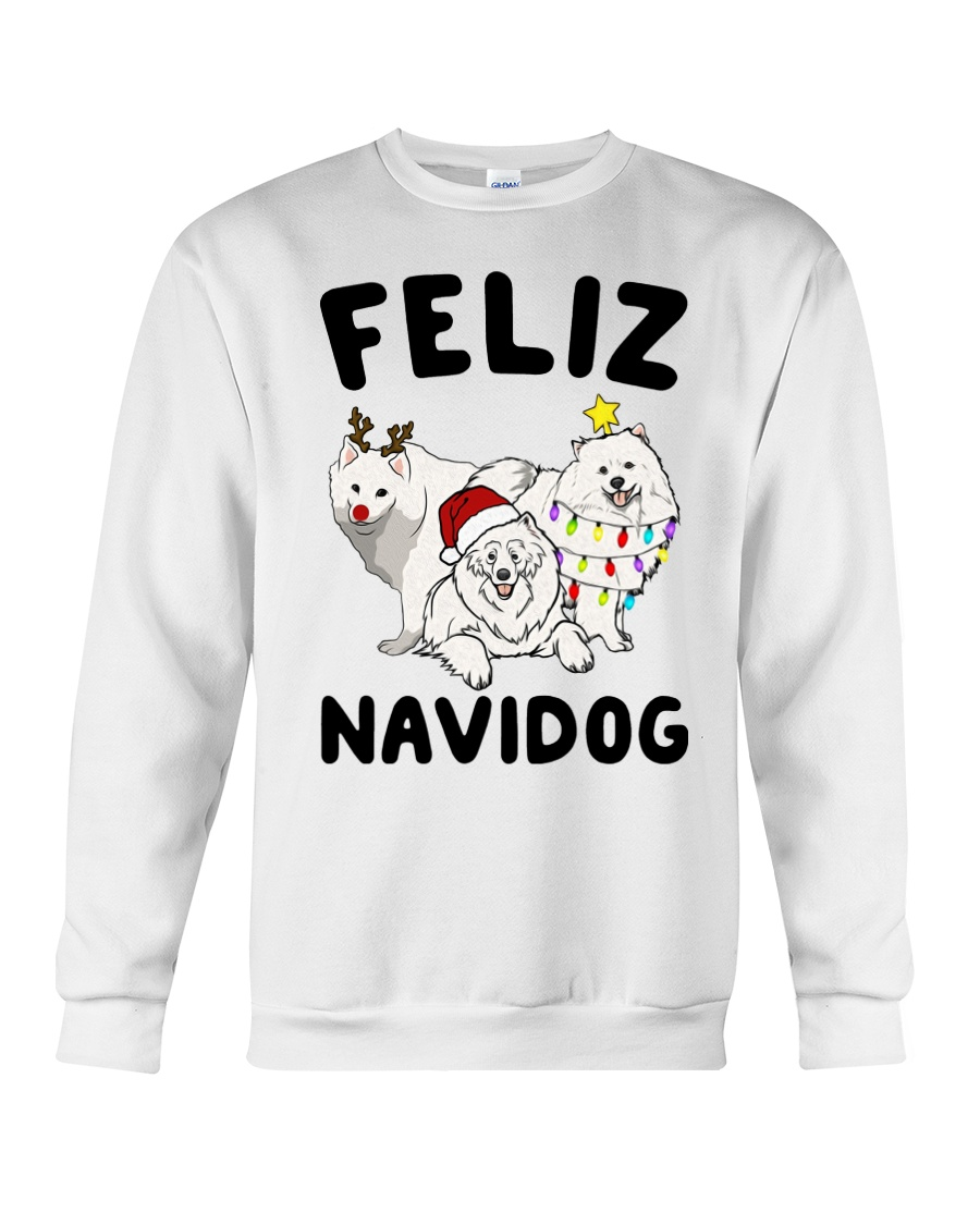 Feliz Navidog Samoyed Christmas Crewneck Sweatshirt