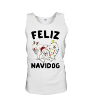 Feliz Navidog Samoyed Christmas Unisex Tank thumbnail