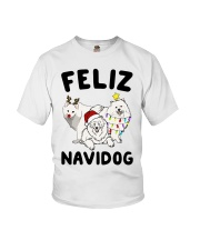 Feliz Navidog Samoyed Christmas Youth T-Shirt tile