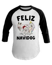 Feliz Navidog Samoyed Christmas Baseball Tee thumbnail