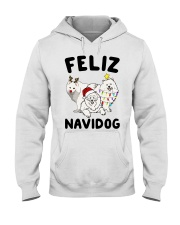 Feliz Navidog Samoyed Christmas Hooded Sweatshirt thumbnail