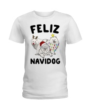 Feliz Navidog Samoyed Christmas Ladies T-Shirt thumbnail