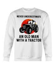 Never underestimate an old man with a Tractor  Crewneck Sweatshirt thumbnail