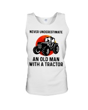 Never underestimate an old man with a Tractor  Unisex Tank thumbnail