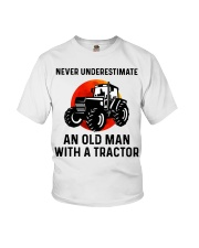 Never underestimate an old man with a Tractor  Youth T-Shirt thumbnail