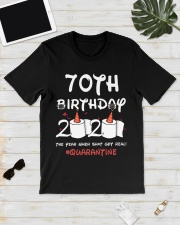 70th birthday 2020 the year when shit got real Classic T-Shirt lifestyle-mens-crewneck-front-17