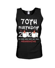 70th birthday 2020 the year when shit got real Unisex Tank thumbnail