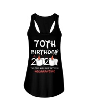 70th birthday 2020 the year when shit got real Ladies Flowy Tank thumbnail