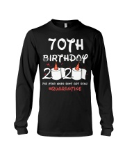 70th birthday 2020 the year when shit got real Long Sleeve Tee thumbnail