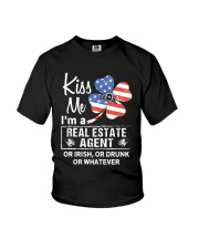 Kiss me I'm a real estate agent or Irish or drunk  Youth T-Shirt thumbnail