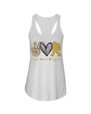 Peace love bigfoot shirt Ladies Flowy Tank thumbnail