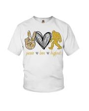 Peace love bigfoot shirt Youth T-Shirt thumbnail