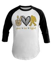 Peace love bigfoot shirt Baseball Tee thumbnail