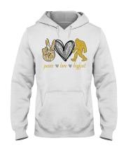 Peace love bigfoot shirt Hooded Sweatshirt thumbnail