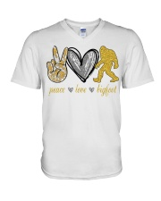 Peace love bigfoot shirt V-Neck T-Shirt thumbnail