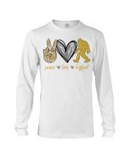 Peace love bigfoot shirt Long Sleeve Tee thumbnail