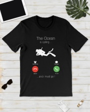 The Ocean is calling and I must go shirt Classic T-Shirt lifestyle-mens-crewneck-front-17