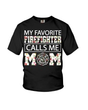 My favorite firefighter calls me mom shirt Youth T-Shirt thumbnail