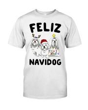 Feliz Navidog Maltese Christmas shirt Classic T-Shirt thumbnail