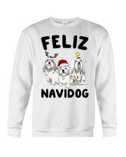 Feliz Navidog Maltese Christmas shirt Crewneck Sweatshirt front