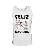 Feliz Navidog Maltese Christmas shirt Unisex Tank thumbnail