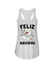 Feliz Navidog Maltese Christmas shirt Ladies Flowy Tank thumbnail