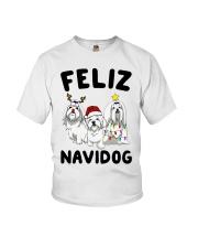 Feliz Navidog Maltese Christmas shirt Youth T-Shirt thumbnail