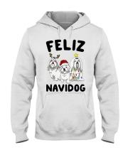 Feliz Navidog Maltese Christmas shirt Hooded Sweatshirt thumbnail