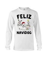Feliz Navidog Maltese Christmas shirt Long Sleeve Tee thumbnail
