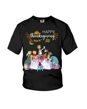 Winnie The Pooh Happy Thanksgiving shirt Youth T-Shirt tile