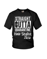 Straight Outta quarantine Hair stylist 2020  Youth T-Shirt tile