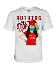 Nothing can stop me class of 2020 red shirt V-Neck T-Shirt thumbnail