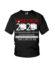 Nurse's Mom 2020 my daughter risks her life take  Youth T-Shirt thumbnail