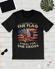 Jesus Flag American Stand for the Flag Kneel  Classic T-Shirt lifestyle-mens-crewneck-front-17
