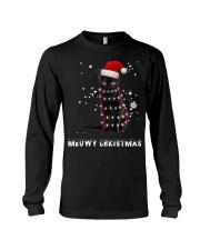 Meowy Christmas Black cat shirt Long Sleeve Tee thumbnail