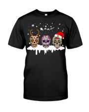 Skulls and Tattoos Merry Christmas Classic T-Shirt thumbnail