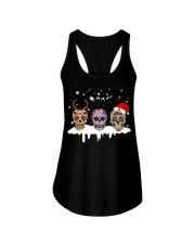 Skulls and Tattoos Merry Christmas Ladies Flowy Tank thumbnail