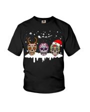 Skulls and Tattoos Merry Christmas Youth T-Shirt thumbnail