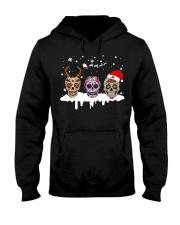 Skulls and Tattoos Merry Christmas Hooded Sweatshirt thumbnail