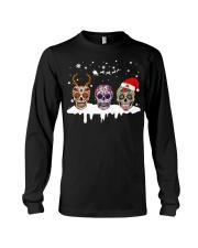 Skulls and Tattoos Merry Christmas Long Sleeve Tee thumbnail
