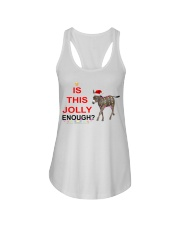 Is this Jolly enough donkey Christmas shirt Ladies Flowy Tank thumbnail