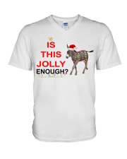 Is this Jolly enough donkey Christmas shirt V-Neck T-Shirt thumbnail