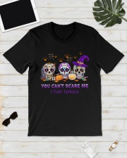 Skull Tattoos You can't scare me I fight Epilepsy Classic T-Shirt lifestyle-mens-crewneck-front-17