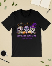 Skull Tattoos You can't scare me I fight Epilepsy Classic T-Shirt lifestyle-mens-crewneck-front-19