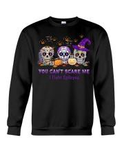Skull Tattoos You can't scare me I fight Epilepsy Crewneck Sweatshirt thumbnail