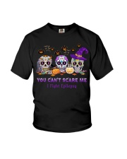 Skull Tattoos You can't scare me I fight Epilepsy Youth T-Shirt thumbnail