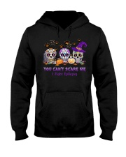Skull Tattoos You can't scare me I fight Epilepsy Hooded Sweatshirt thumbnail