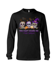 Skull Tattoos You can't scare me I fight Epilepsy Long Sleeve Tee thumbnail