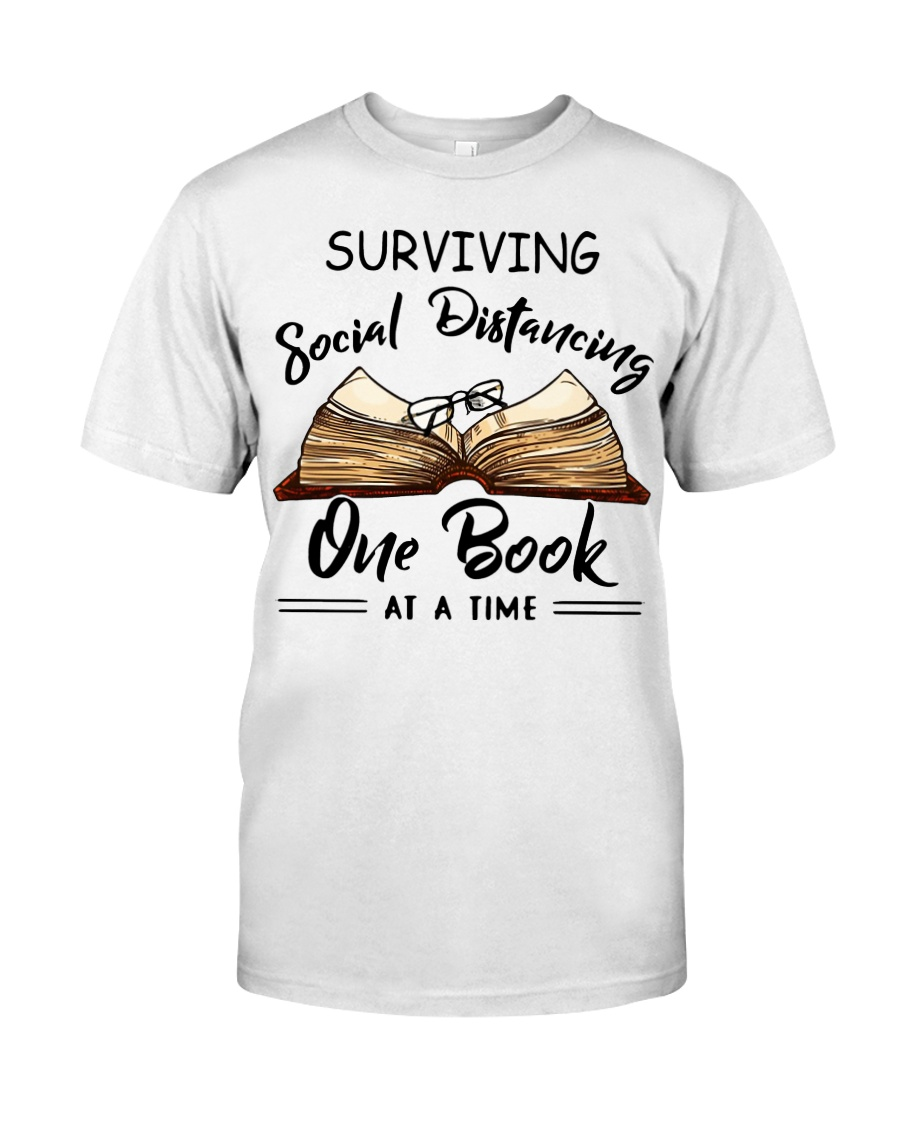 Surviving social distancing one book at a time  Classic T-Shirt